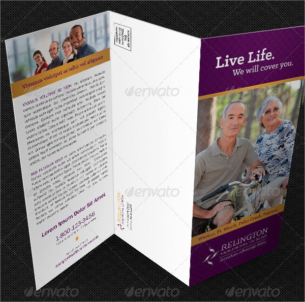 healthcare company brochure template
