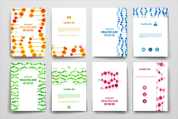 Set of Healthcare Brochures Templates