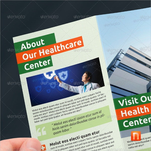 healthcare center tri fold brochure