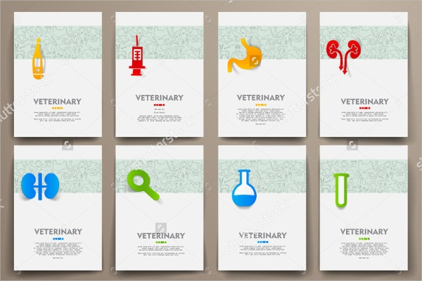 Set of Healthcare Identity Brochure Template