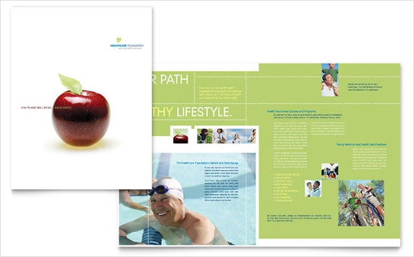 Healthcare Management Brochure Illustrator