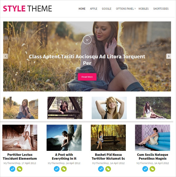 Stylish Blogger WordPress Theme