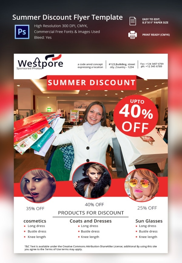 Freebie of the Day - Summer Discount Flyer Template