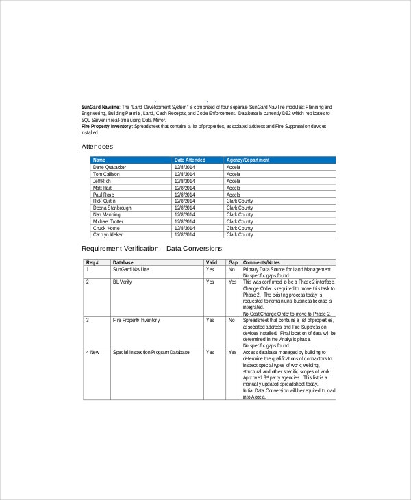 8 data gap analysis templates free sample example for Data migration document template