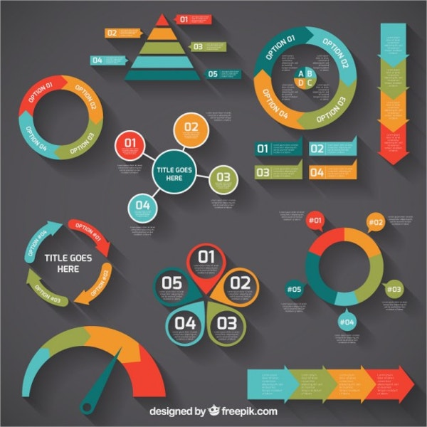 colorful infographic diagrams free vector
