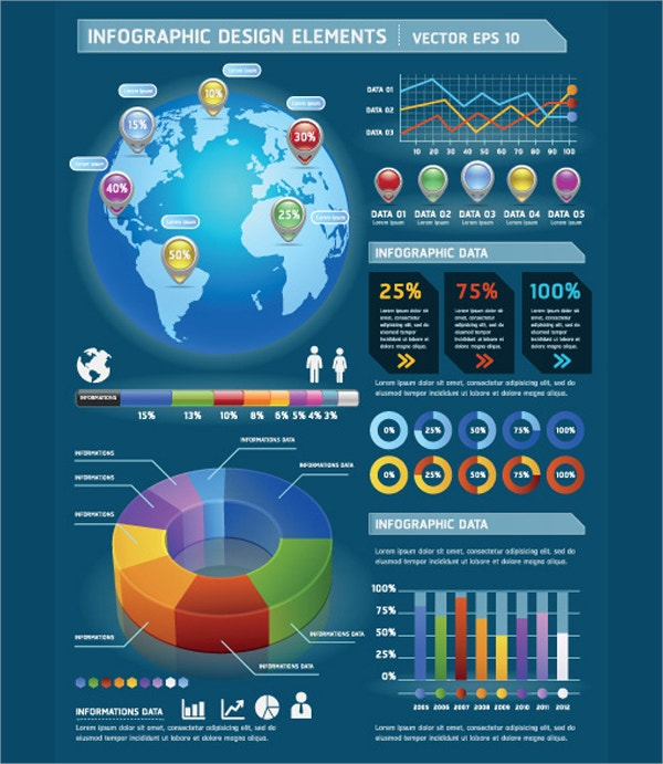 set of year infographic design elements