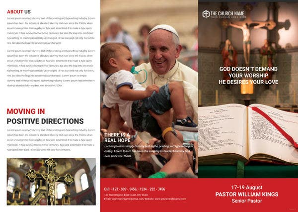 A3 Sample Church Brochure