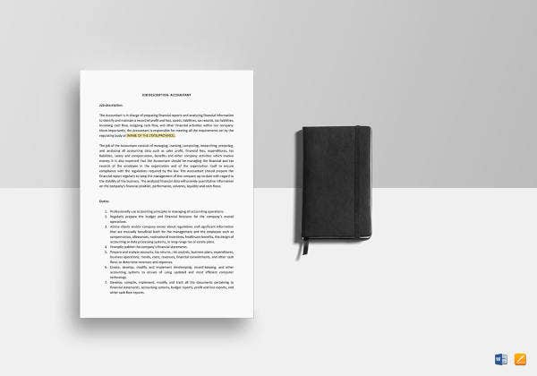 accountant job description template1