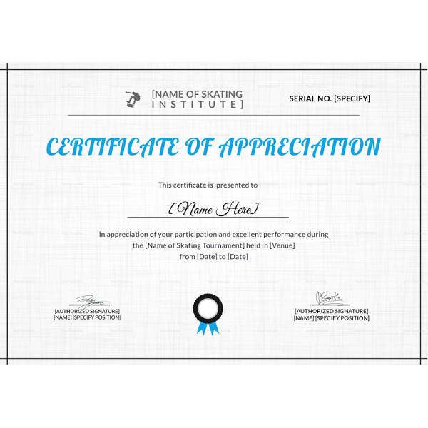 appreciation-certificate-of-skating-template