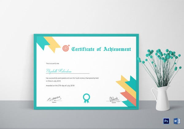 archery-achievement-certificate-template