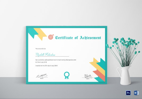 archery-achievement-certificate-template