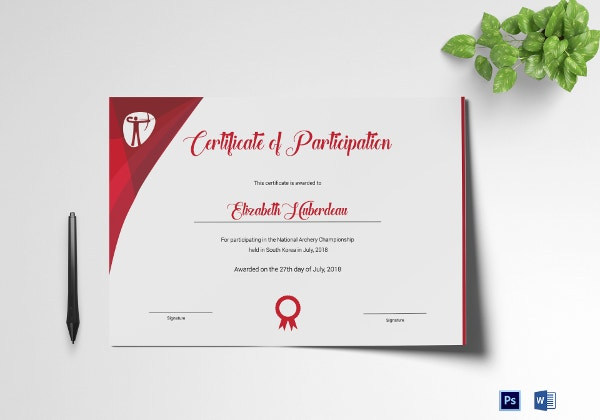 archery-participation-certificate