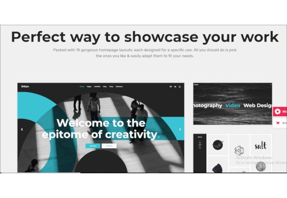 artist and design agency portfolio theme