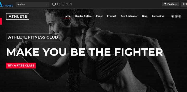 athlete fitness gym and sport drupal theme 788x391