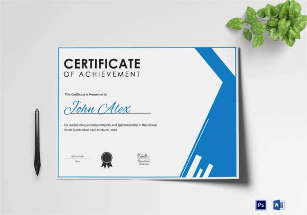 athletic-achievement-certificate-template