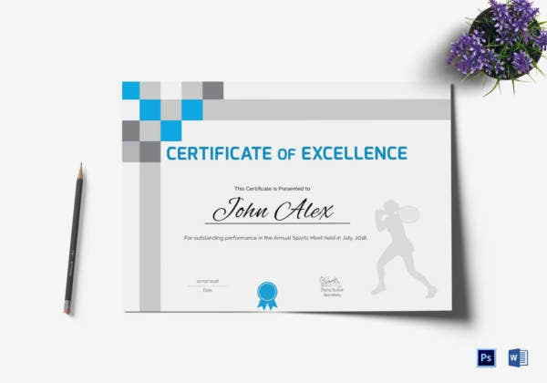 athletic-excellence-certificate-template