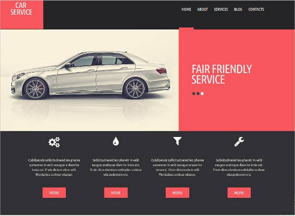 auto repair shop website theme