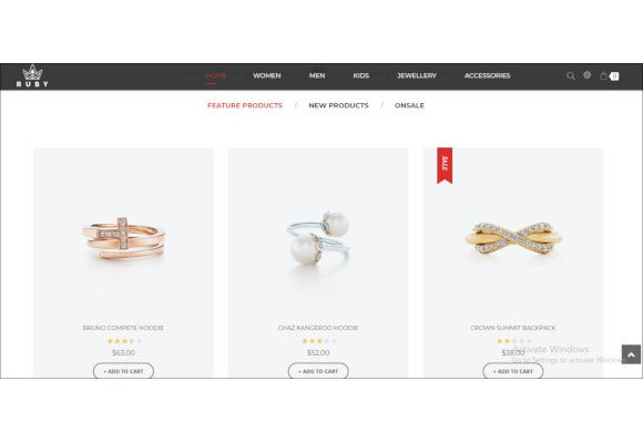 best jewelry store magento website theme