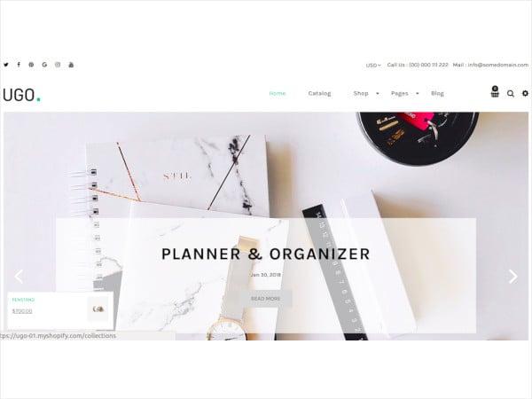 blog store shopify theme