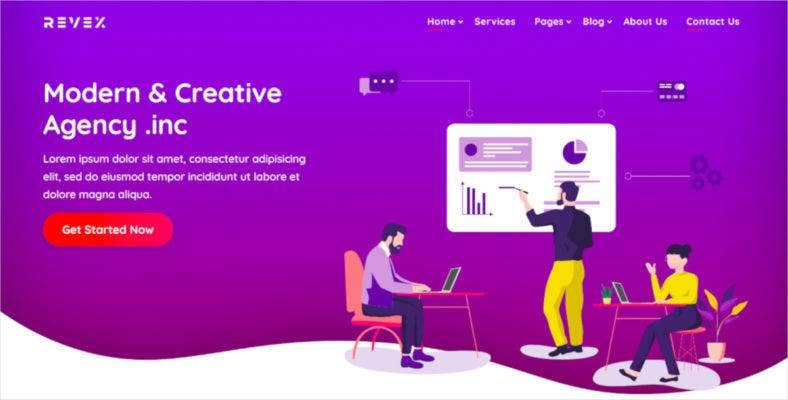 bootstrap agency html5 template 788x400