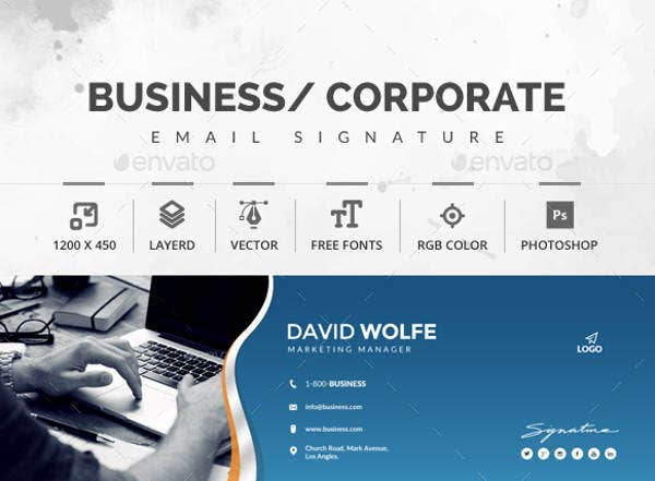 89 responsive email signatures free premium templates for Business promotion email template
