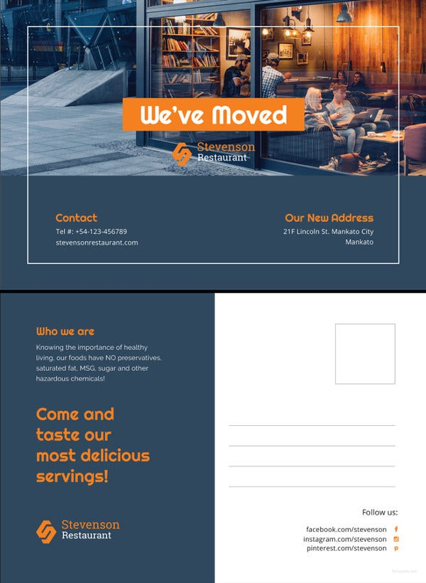 business moving postcard template