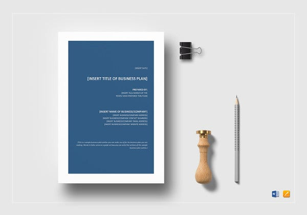 business plan outline template to print