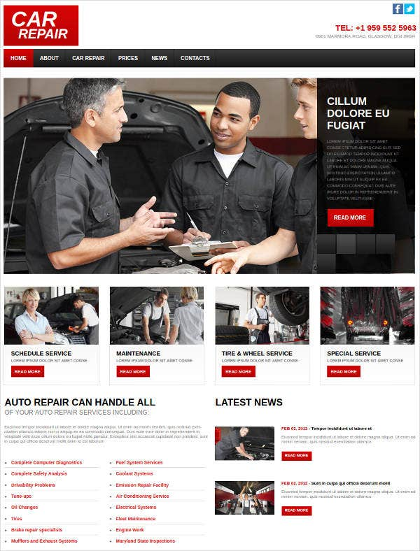 car-repair-web-design