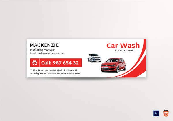 car-wash-email-signature-design