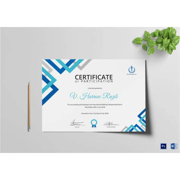 certificate-of-rafting-participation-template