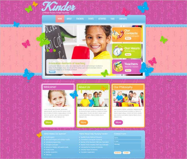 childcare-website-template