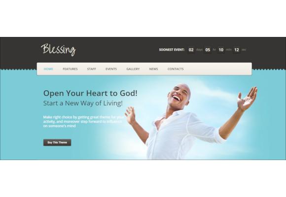 church charity wordpress website theme