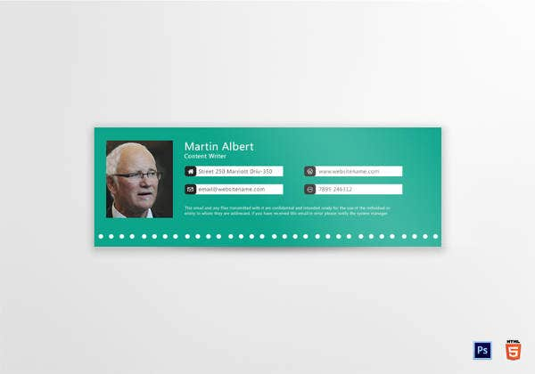 content-writer-email-signature-design-template
