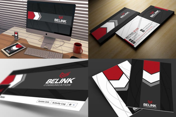 corporate identity package stationery template