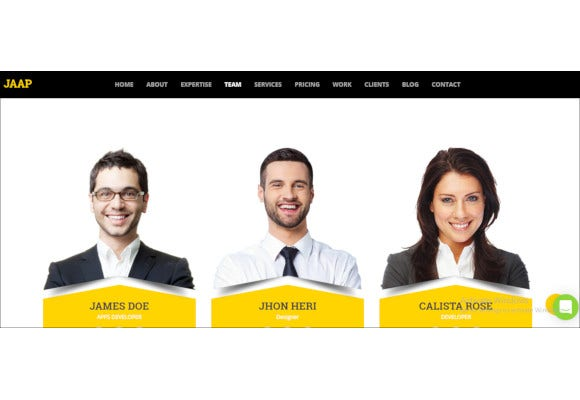 creative business one page joomla website template