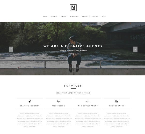 creative minimal one page joomla template