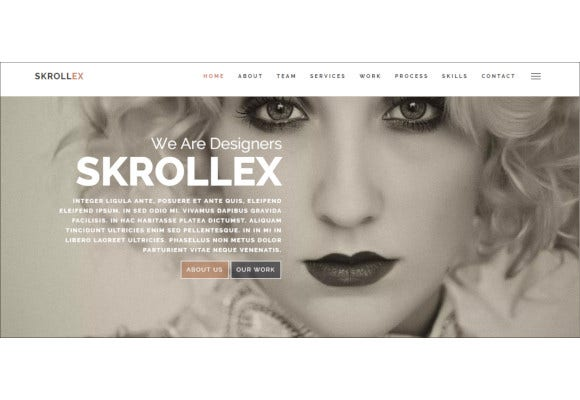 creative one page parallax theme