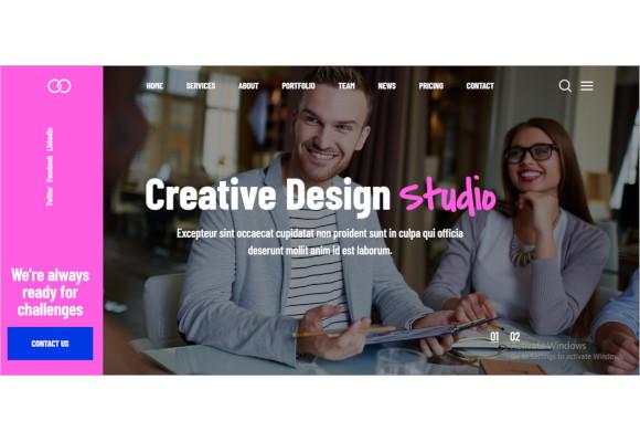 creative one page parallax wordpress theme