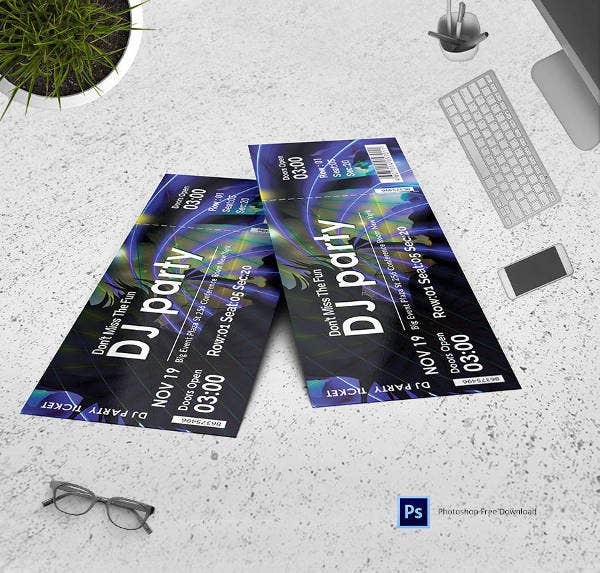 dj-party-invitation-template