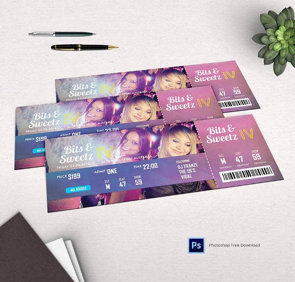 Christmas Party Ticket Template Free: 29+ Free Ticket Templates