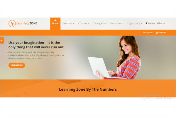 educational courses moodle theme