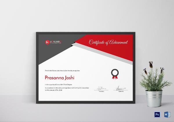 elegant-certificate-of-judo-template