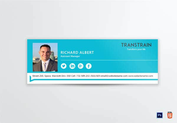 email signature for assistant manager training