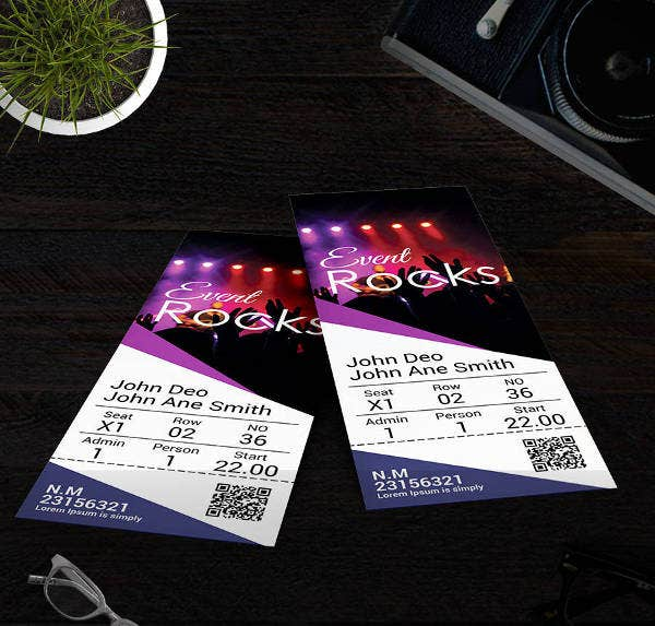 event-rock-party-ticket-template