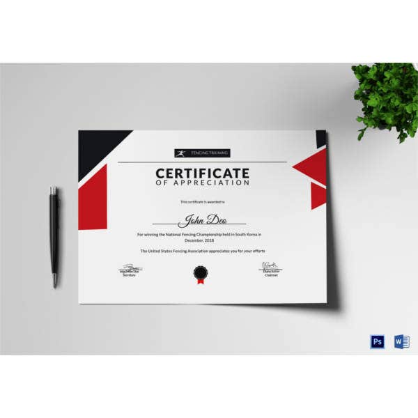 fencing-appreciation-certificate-template