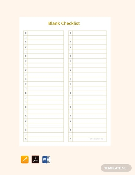 free-blank-checklist-template