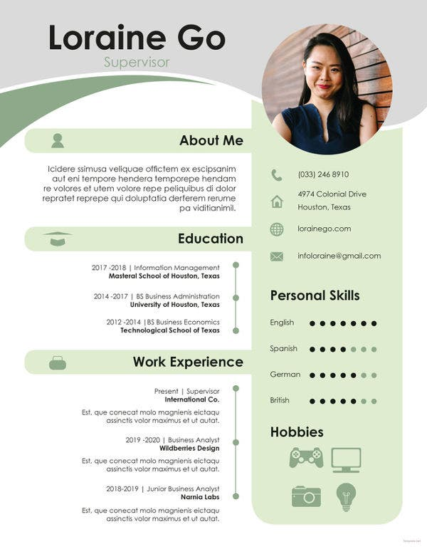 free-supervisor-resume-template