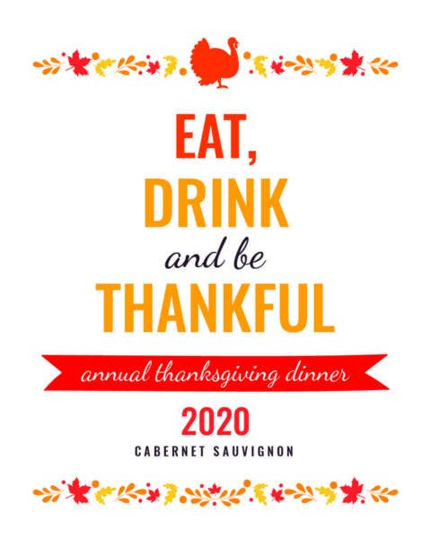 free thanksgiving wine bottle label template