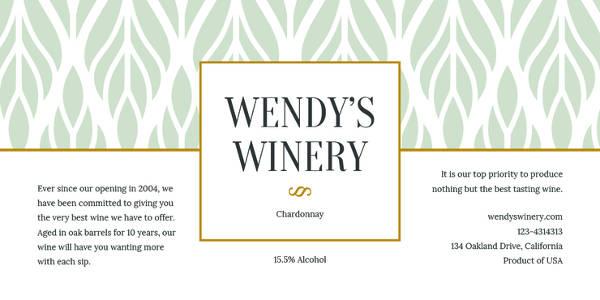 free wine bottle template