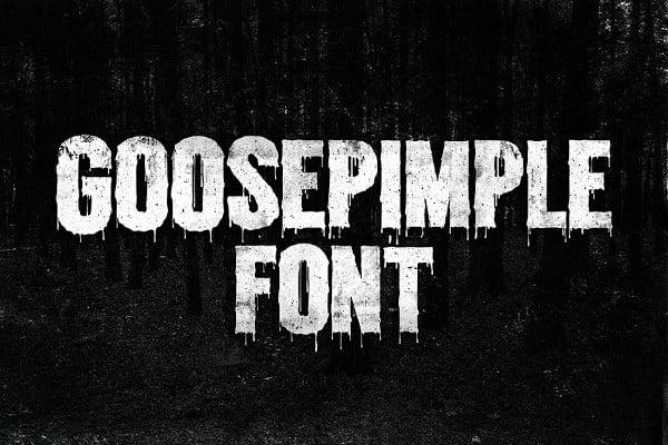 grunge halloween font